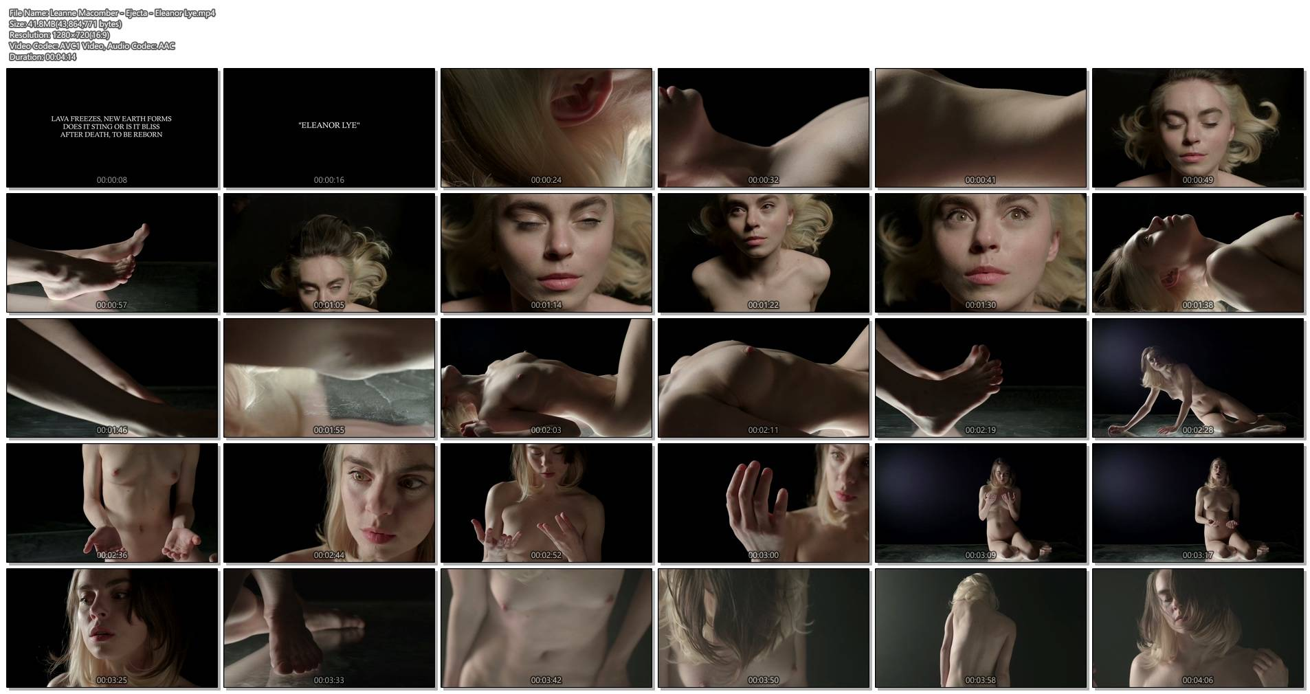 Leanne Macomber nude bush boobs a cute singer from Ejecta - Eleanor Lye (2014) HD 720p (1)