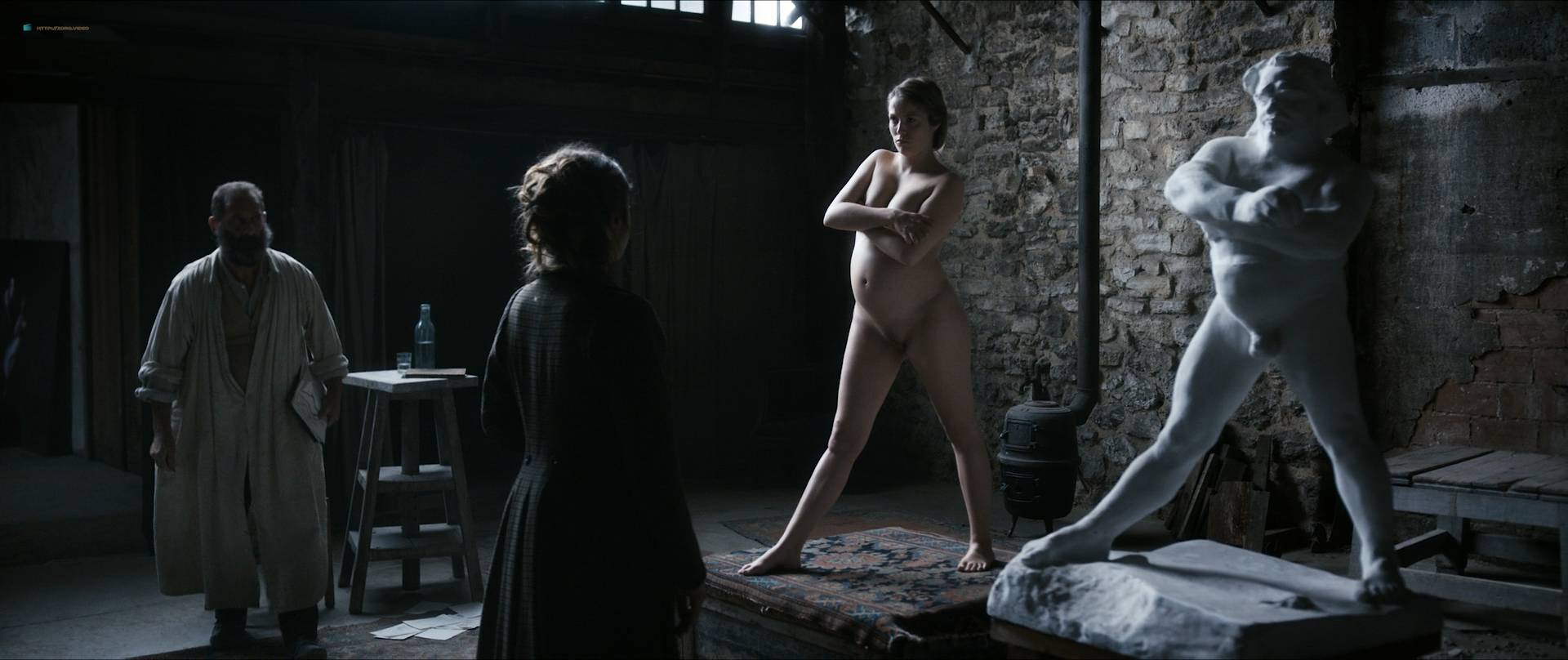 Izïa Higelin nude full frontal Magdalena Malina, Olivia Baes and other's nude bush - Rodin (FR-2017) HD 1080 BluRay (14)
