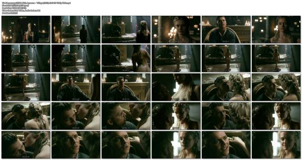Alicia Agneson nude butt naked and some nipples - Vikings (2017) s5e3 HD 1080p Web (1)