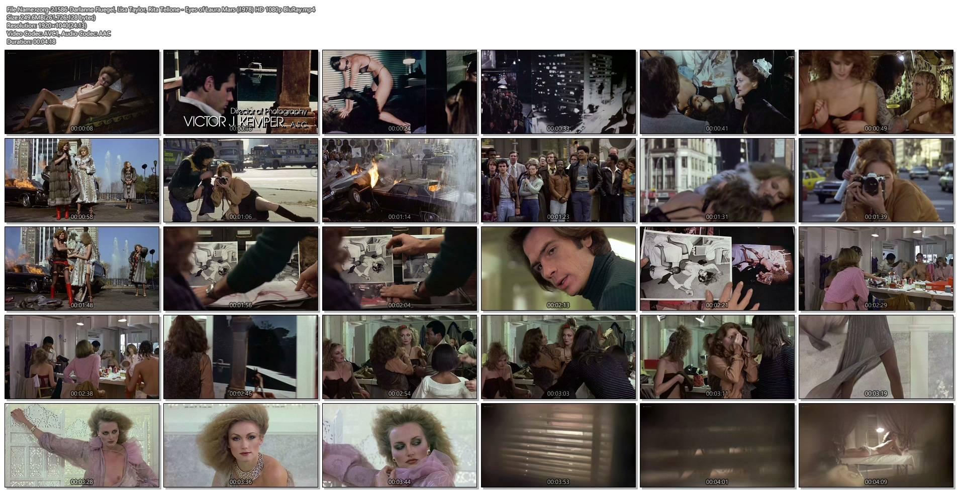Darlanne Fluegel nude topless Lisa Taylor and Rita Tellone nude topless too - Eyes of Laura Mars (1978) HD 1080p BluRay (1)