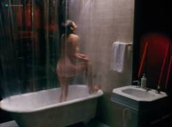 Kathleen Kinmont nude in the bath and T.C. Warner nude - The Art of Dying (1991) (5)