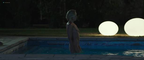 Toni Collette nude bush and boobs while skinny dipping - Madame (2017) HD 1080p WEB (9)