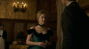 Dakota Fanning hot cleavage and Daisy Bevan sex - The Alienist (2018) s1e2 HD 1080p (6)