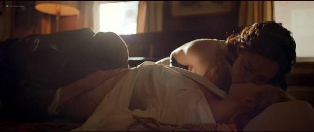 Rebecca Hall nude topless Bella Heathcote hot sex threesome - Professor Marston And The Wonder Women (2017) HD 1080p (3)