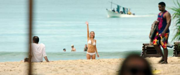 Charlotte Vega hot sexy and wet in bikini - American Assassin (2017) HD 1080p (6)