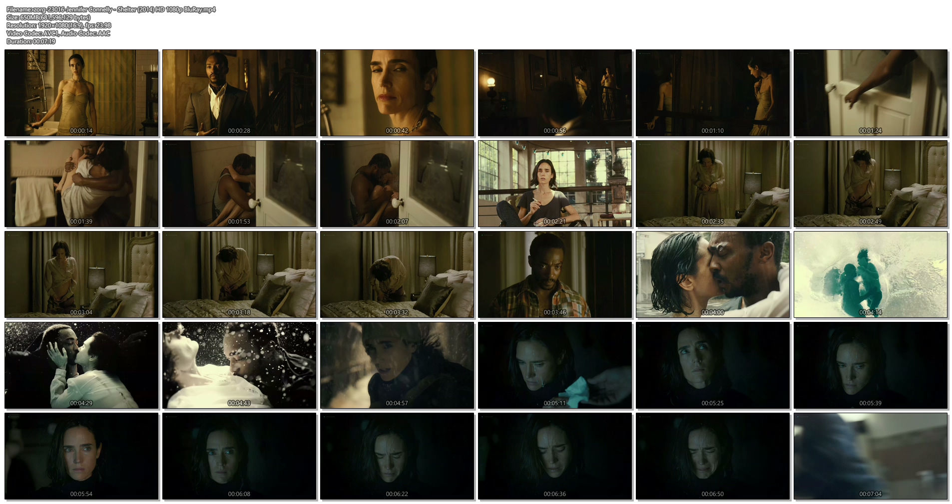 Jennifer Connelly nude bush - Shelter (2014) HD 1080p BluRay (1)