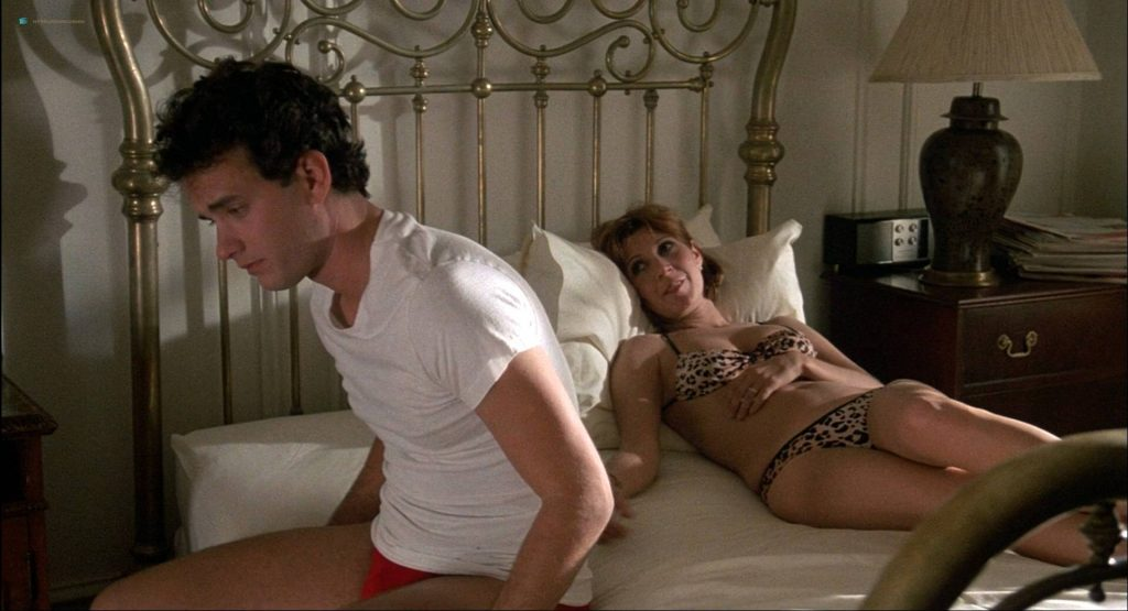 Lori Singer hot and sexy Carrie Fisher sexy underwear - The Man with One Red Shoe (1985) HD 1080p WEB (13)