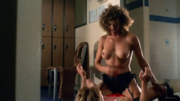 Brinke Stevens nude full frontal Michelle Bauer nude sex - Sorority Babes in the Slimeball Bowl-O-Rama (1988) HD 1080p (8)