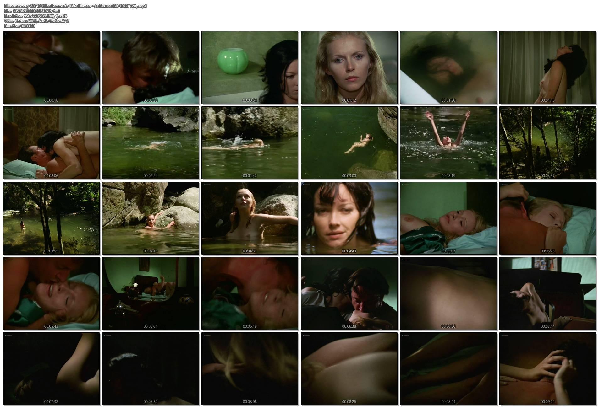 Lilian Lemmertz nude sex and Kate Hansen nude sex threesome - As Deusas (BR-1972) 720p (1)