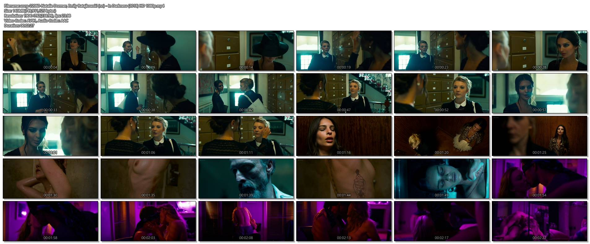 Natalie Dormer nude topless in the shower and sex Emily Ratajkowski hot - In Darkness (2018) HD 1080p (1)