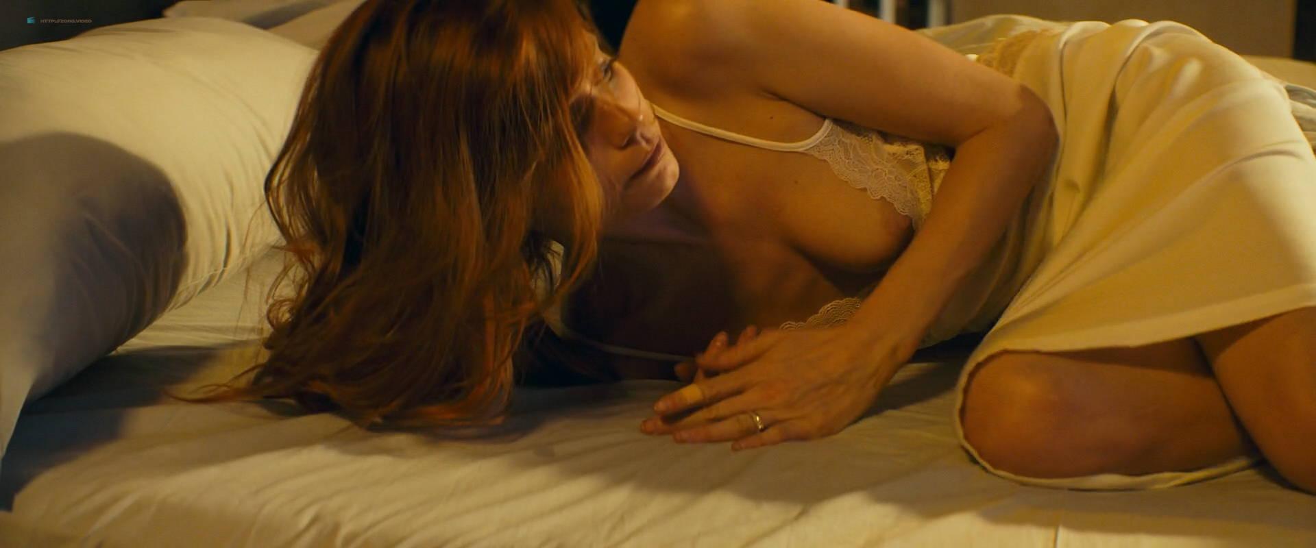 Abbey Lee nude bush and topless Carla Gugino nude butt - Elizabeth Harvest (2018) HD 1080p Web (14)