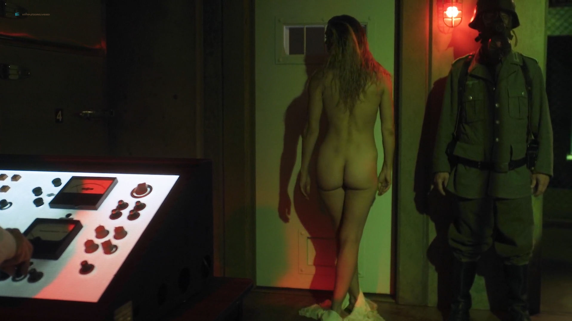 Dominique Swain nude butt and topless - Nazi Overlord (2018) HD 1080p (12)