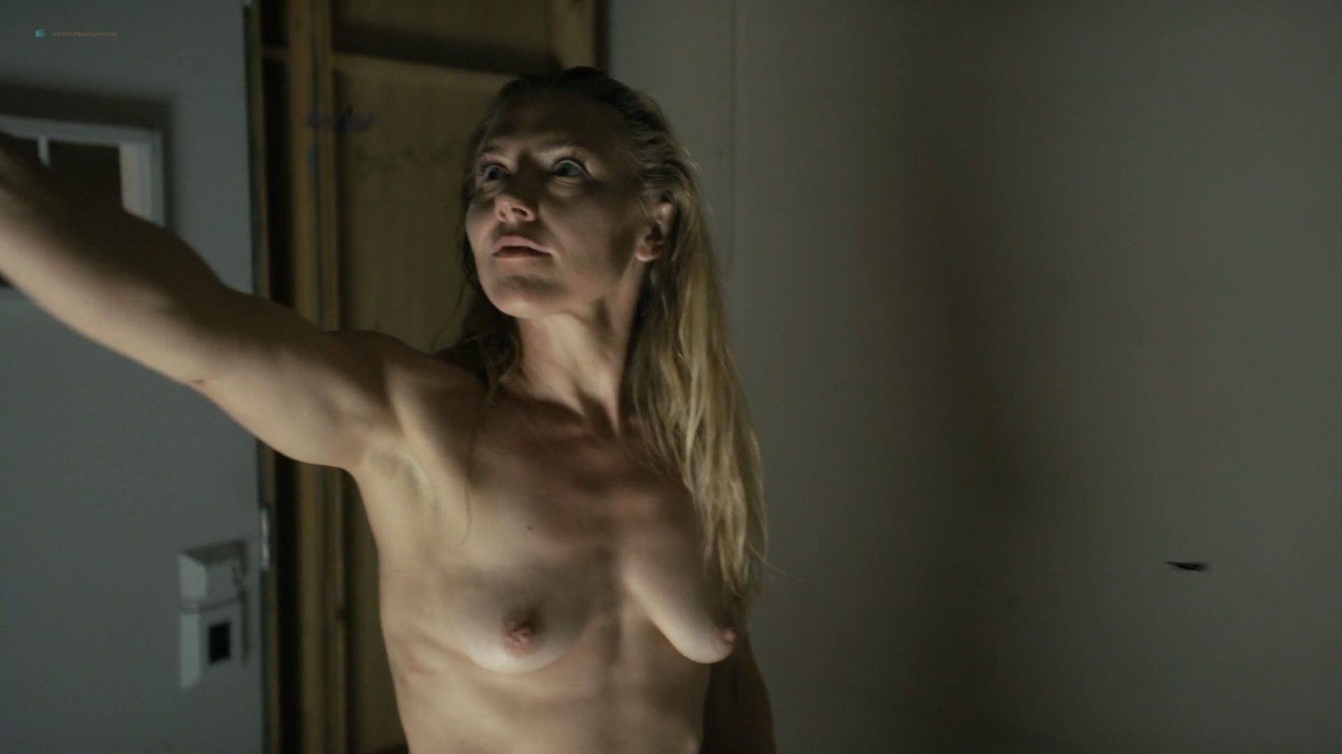 Dominique Swain nude butt and topless - Nazi Overlord (2018) HD 1080p (9)