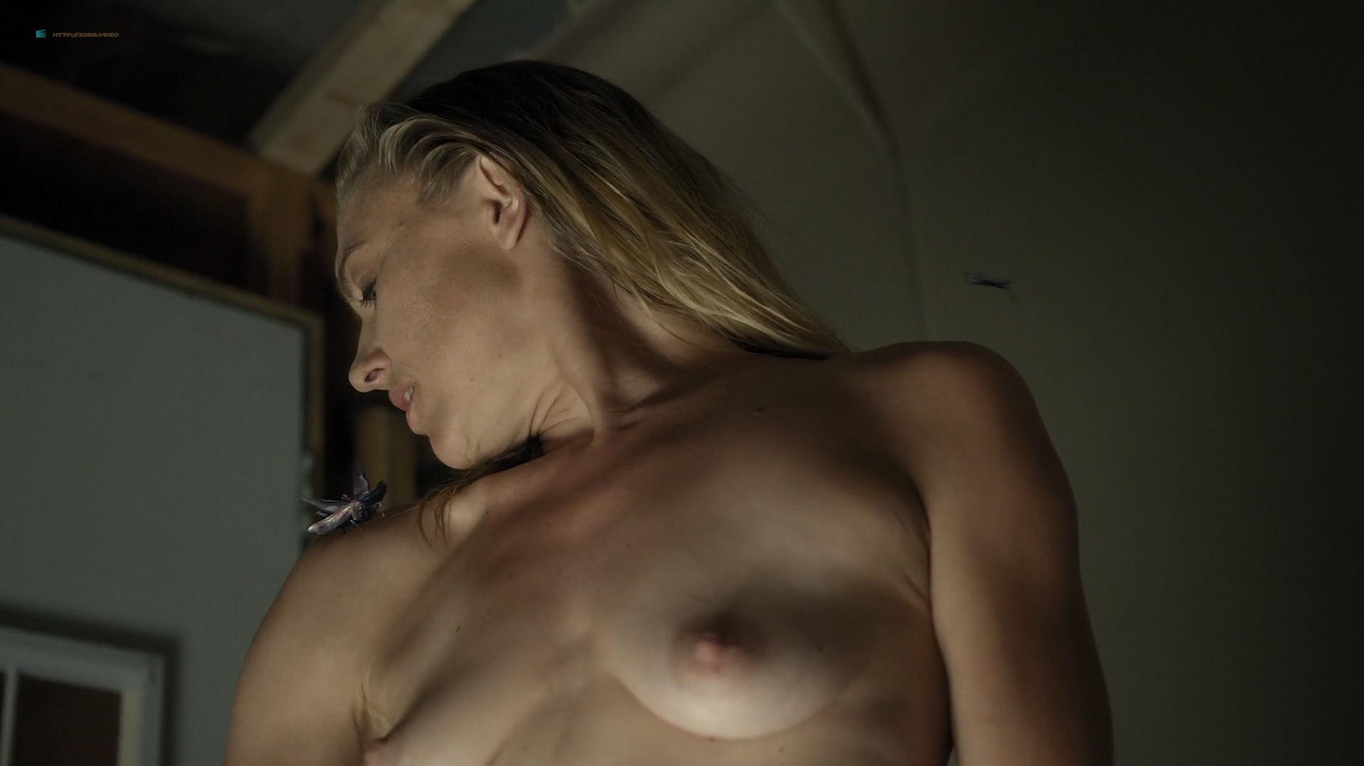 Dominique Swain nude butt and topless - Nazi Overlord (2018) HD 1080p (7)
