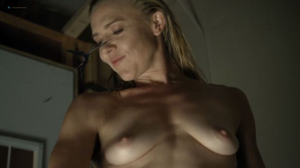 Dominique Swain nude butt and topless - Nazi Overlord (2018) HD 1080p (6)