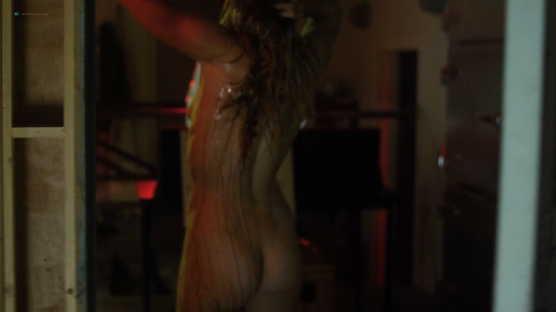 Dominique Swain nude butt and topless - Nazi Overlord (2018) HD 1080p (2)