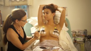 Emily Ratajkowski nude - Wears Nothing But A Guitar Pick Bikini Body Painting (2017)