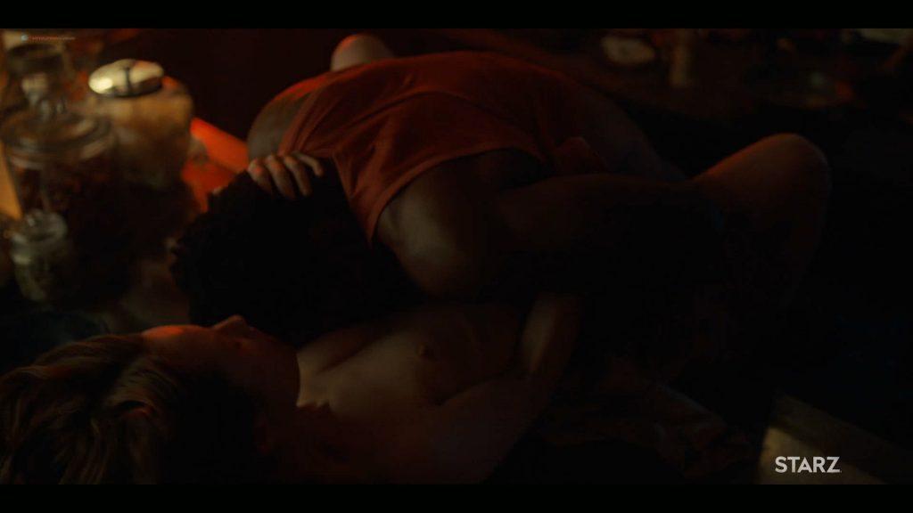 Emily Browning nude hot sex Hani Furstenberg nude sex too - American Gods (2019) s2e5 HD 1080p (9)