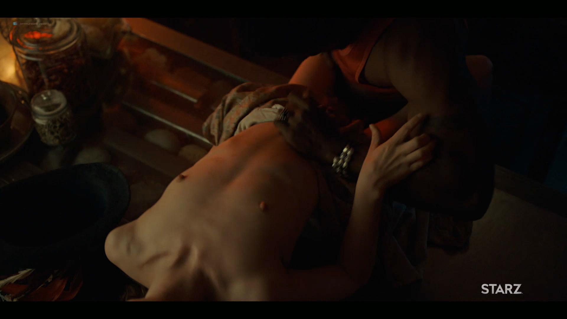 Emily Browning nude hot sex Hani Furstenberg nude sex too - American Gods (2019) s2e5 HD 1080p (7)