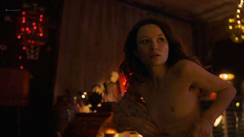 Emily Browning nude hot sex Hani Furstenberg nude sex too - American Gods (2019) s2e5 HD 1080p (2)