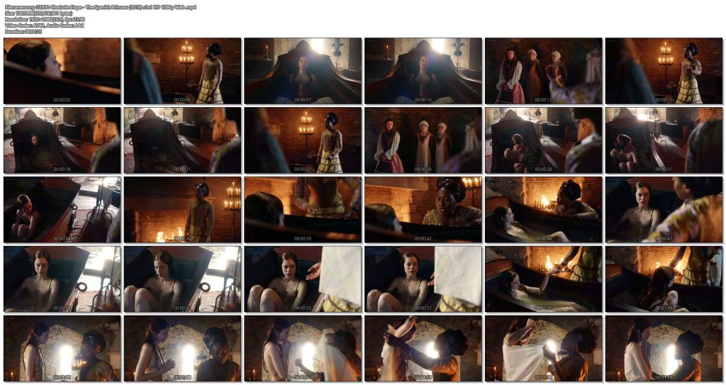Charlotte Hope nude topless and butt in the tub - The Spanish Princess (2019) s1e1 HD 1080p Web (1)