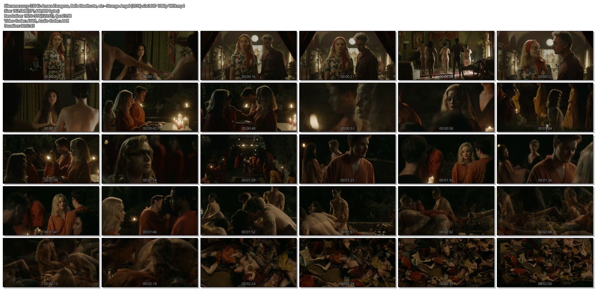 Amara Zaragoza nude topless Bella Heathcote hot orgy sex – Strange Angel (2018) s2e2 HD 1080p WEB (1)