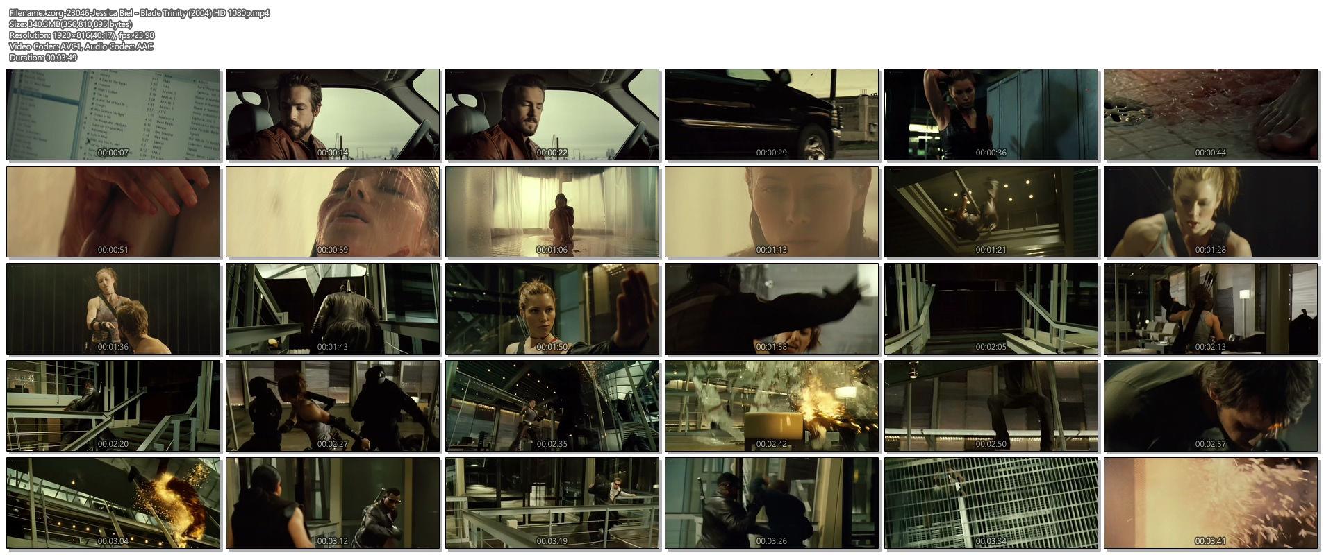 Jessica Biel hot and sexy - Blade Trinity (2004) HD 1080p BluRay (1)