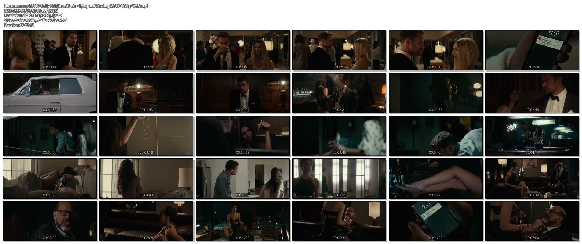 Emily Ratajkowski hot sideboob - Lying and Stealing (2019) 1080p WEB (1)