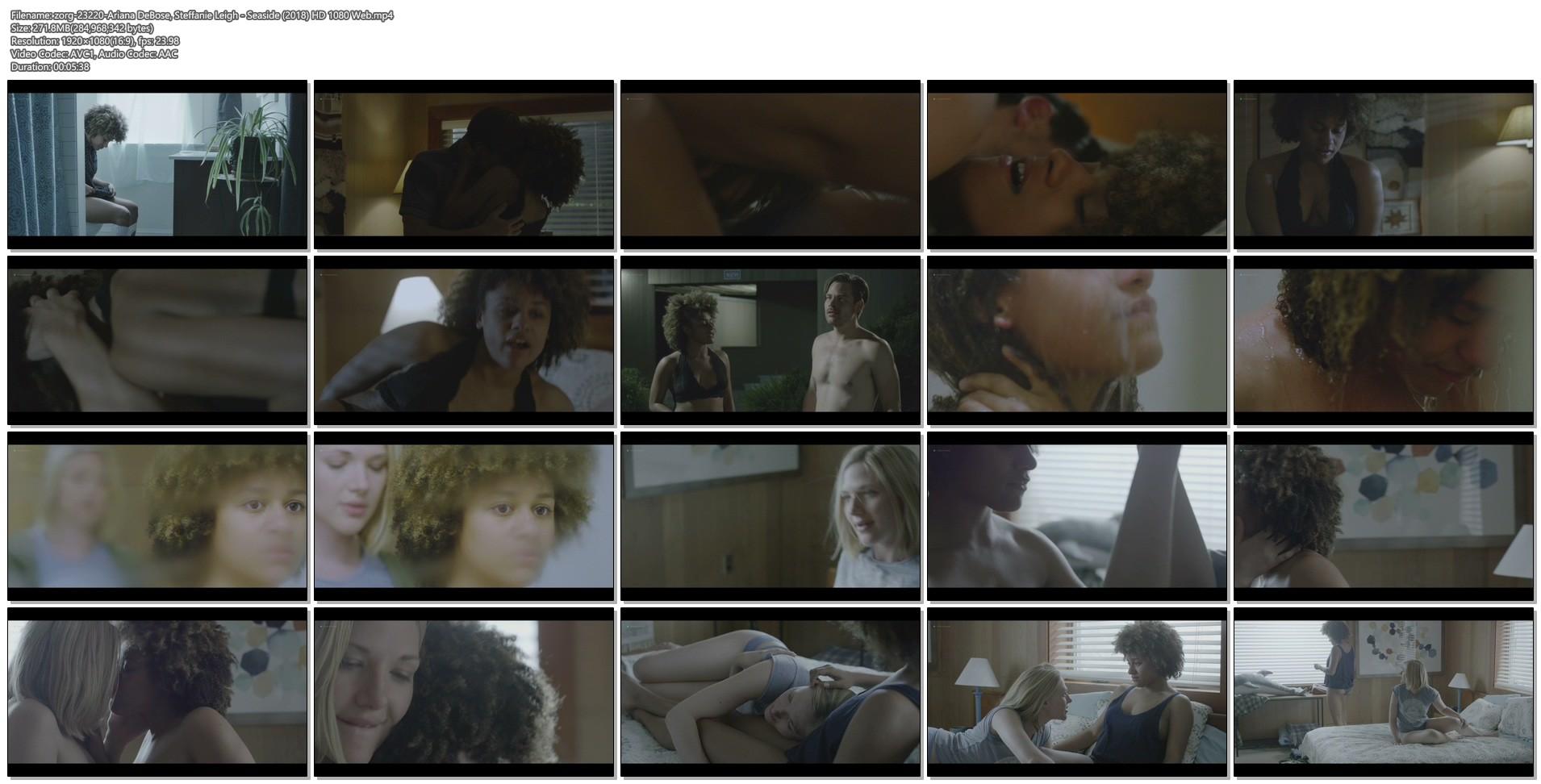 Ariana DeBose sexy lesbian sex with Steffanie Leigh - Seaside (2018) HD 1080 Web (1)