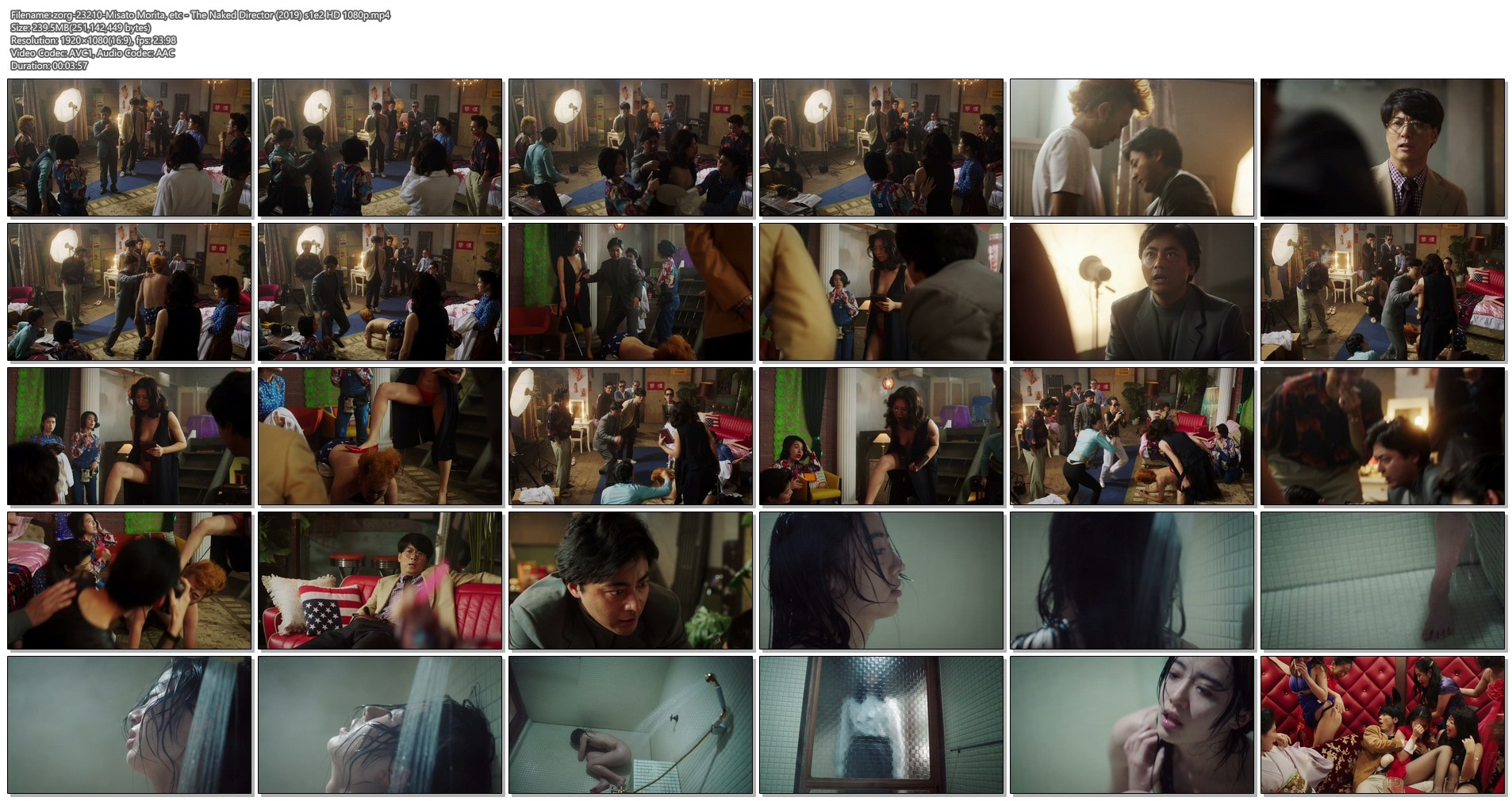 Misato Morita naked in the shower rest nude - The Naked Director (2019) s1e2 HD 1080p (1)