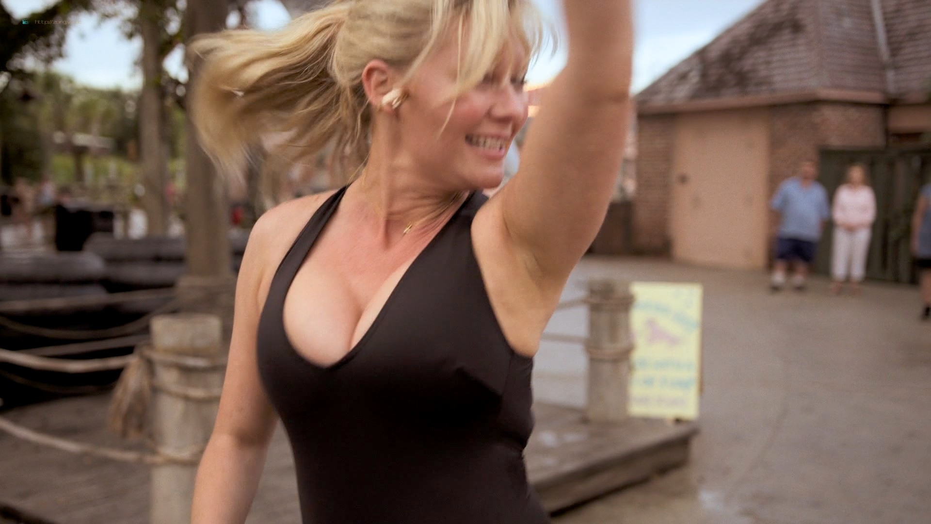 Kirsten Dunst hot sexy and busty - On Becoming a God in Central Florida (2019) s1e1-3 HD 1080p (3)