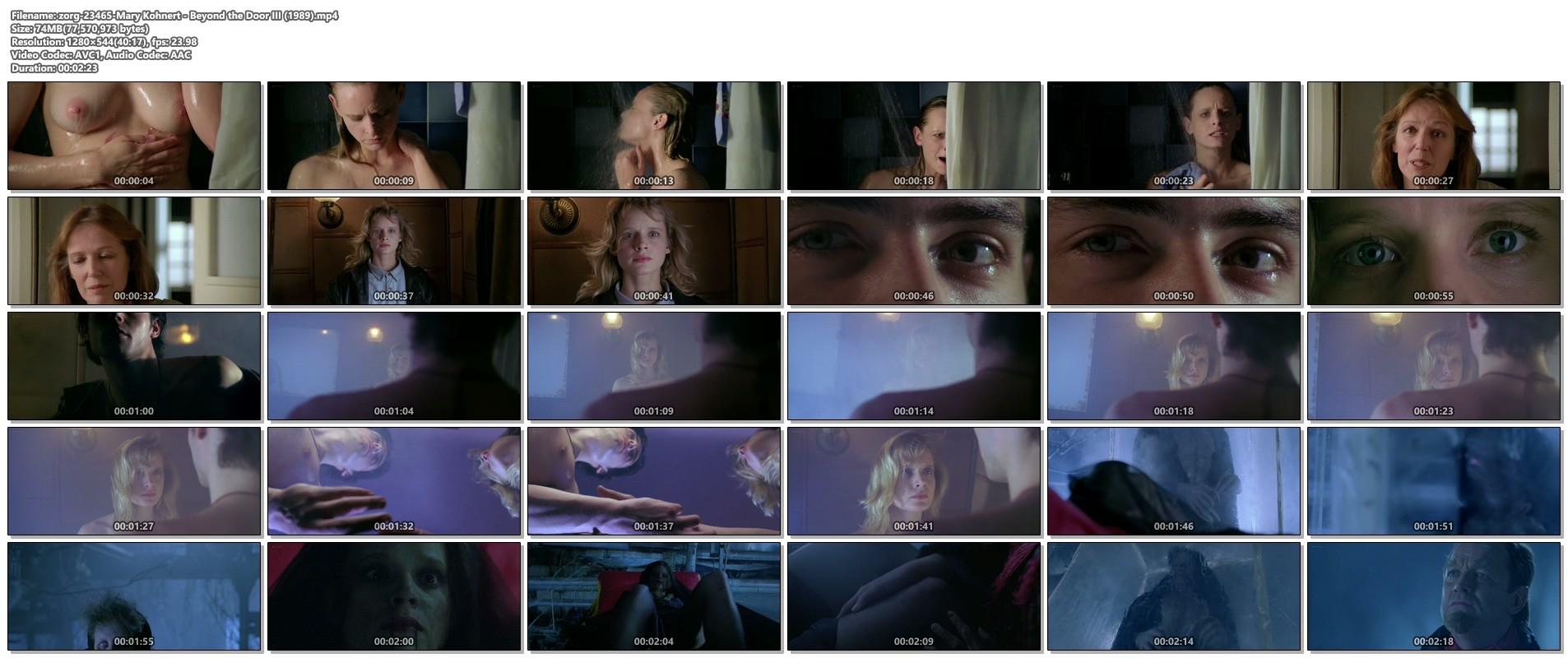 Mary Kohnert nude topless in the shower - Beyond the Door III (1989) 720p (1)