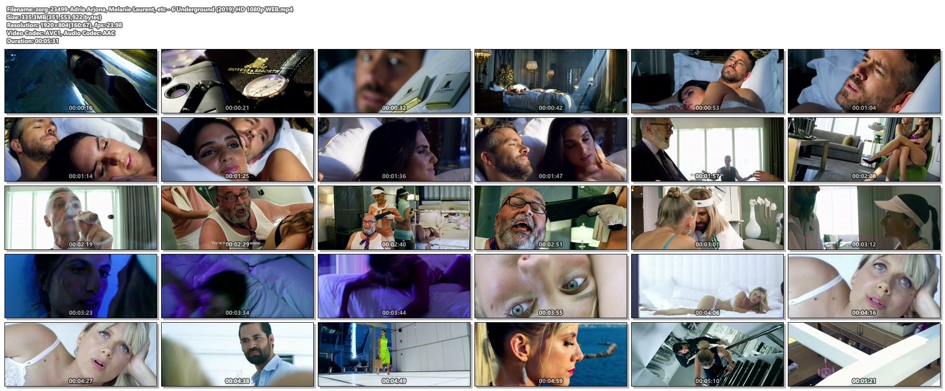 Adria Arjona hot and sex Melanie Laurent hot sex too - 6 Underground (2019) HD 1080p WEB (1)