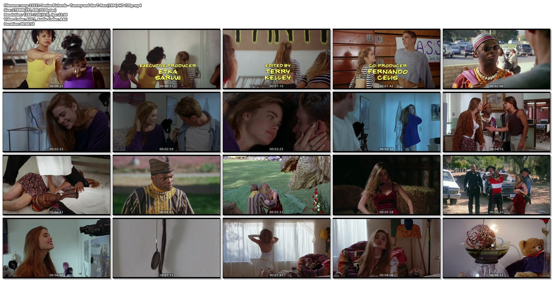 Denise Richards hot and sexy - Tammy and the T-Rex (1994) HD 720p (1)