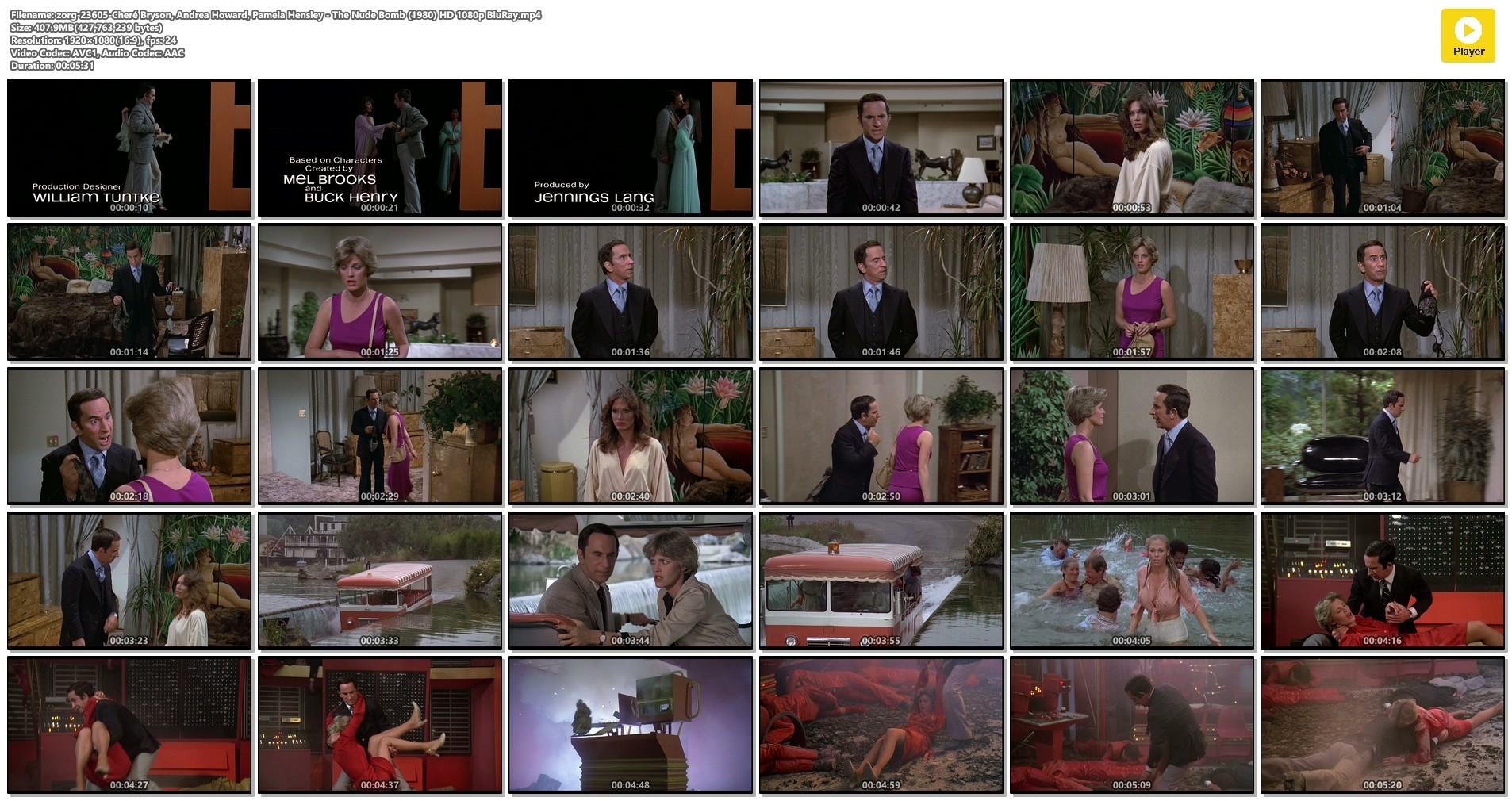 Cheré Bryson busty see through Andrea Howard, Pamela Hensley hot - The Nude Bomb (1980) HD 1080p BluRay (1)