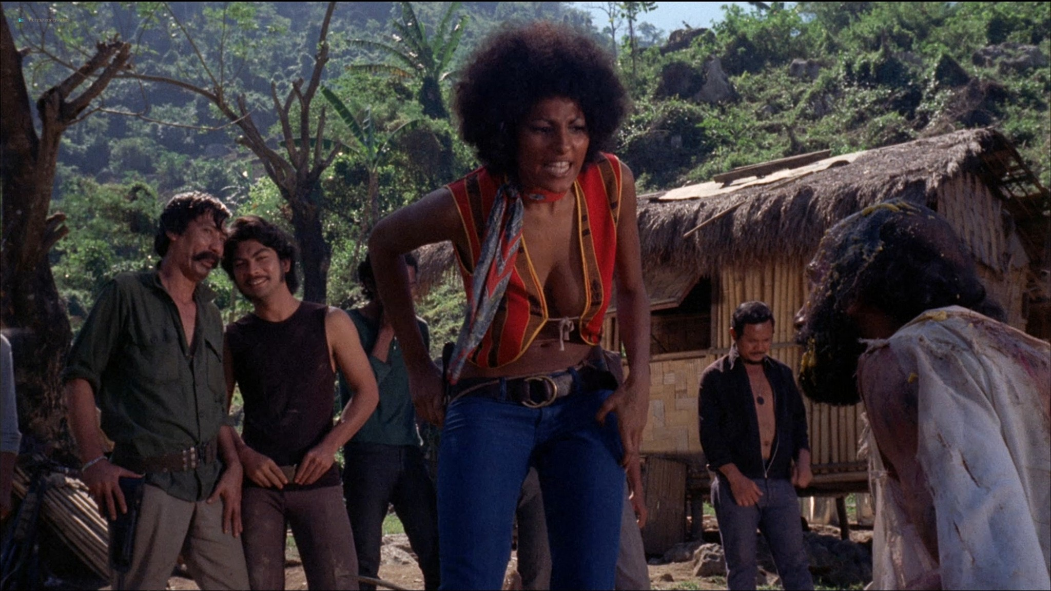 Pam Grier nude Anita Ford nude bush, others nude - The Big Bird Cage (1972) HD 1080p BluRay(r) (18)
