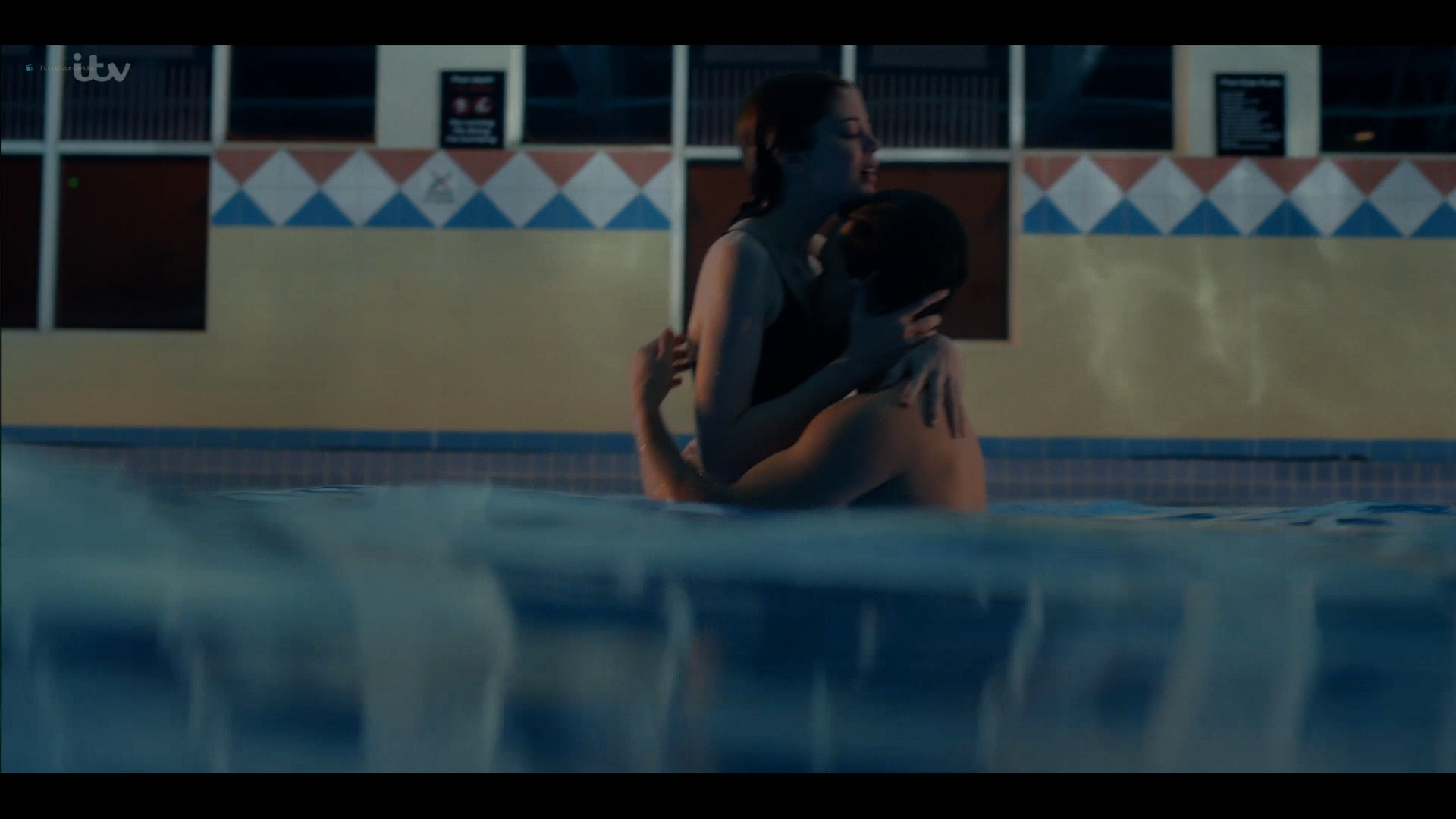 Charlotte Hope nude and sex in the pool - Bancroft (2019) s2e1 HD 1080p (12)