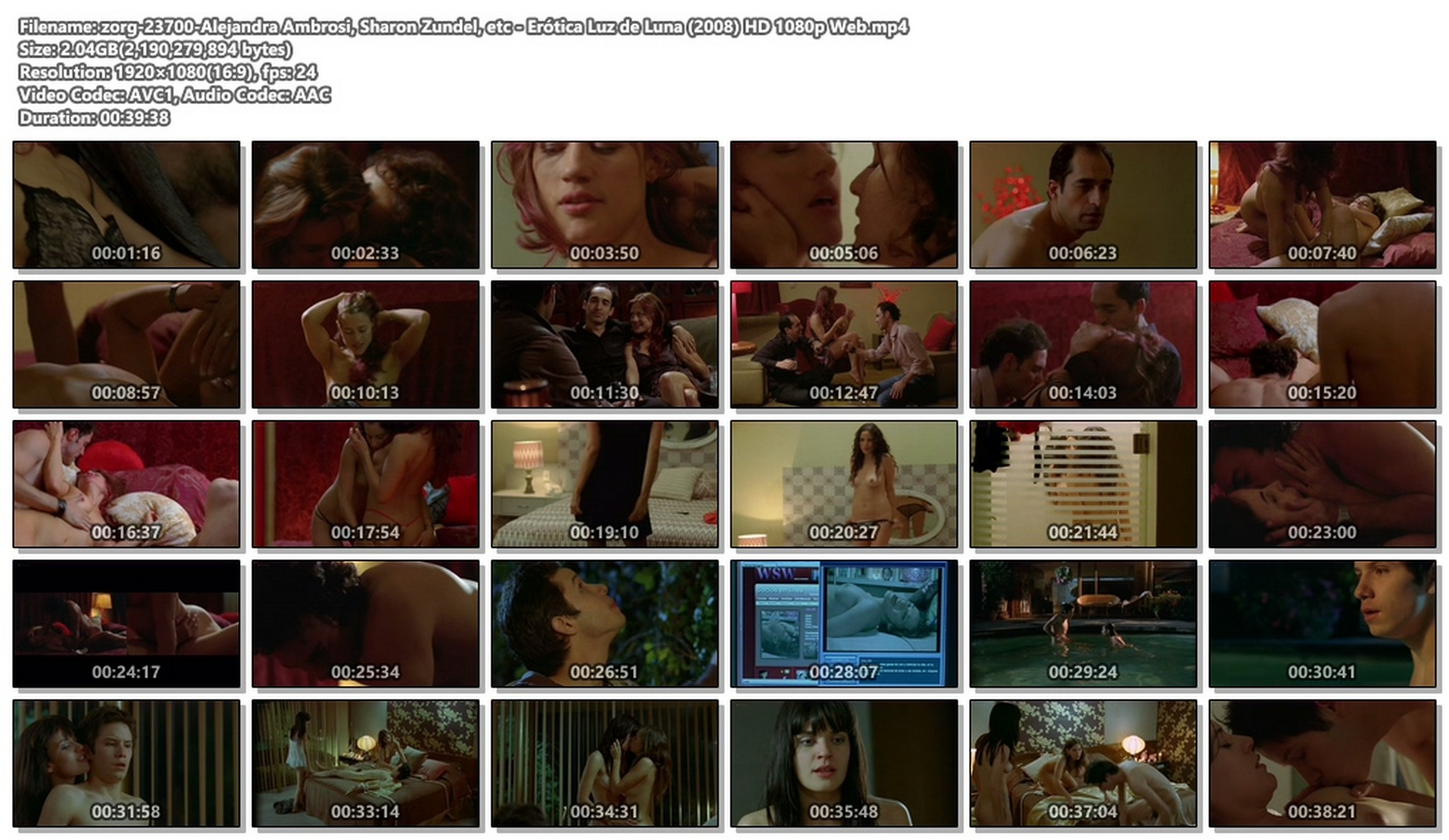 Alejandra Ambrosi nude sex Sharon Zundel and other nude lot of sex - Erótica: Luz de Luna (2008) HD 1080p Web (1)