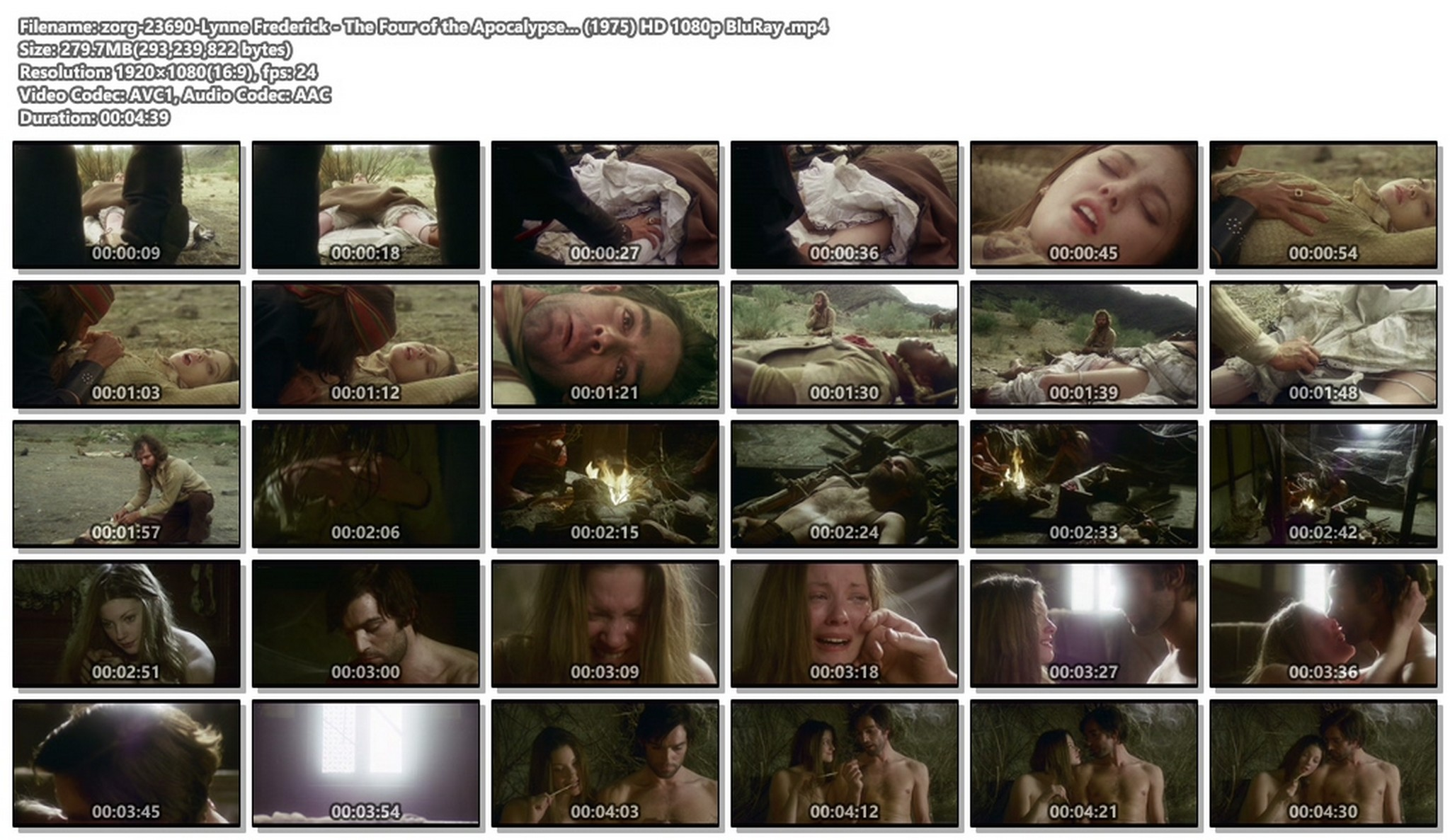 Lynne Frederick nude - The Four of the Apocalypse... (1975) HD 1080p BluRay (1)