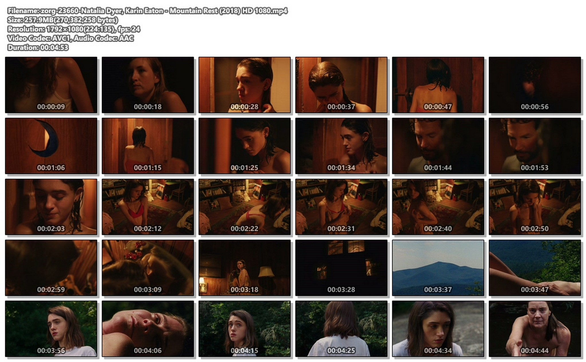 Natalia Dyer sexy Karin Eaton nude - Mountain Rest (2018) HD 1080p Web (1)