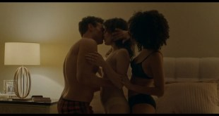 Nathalie Emmanuel sex threesome with Britt Lower - Holly Slept Over (2020) HD 1080p Web (5)