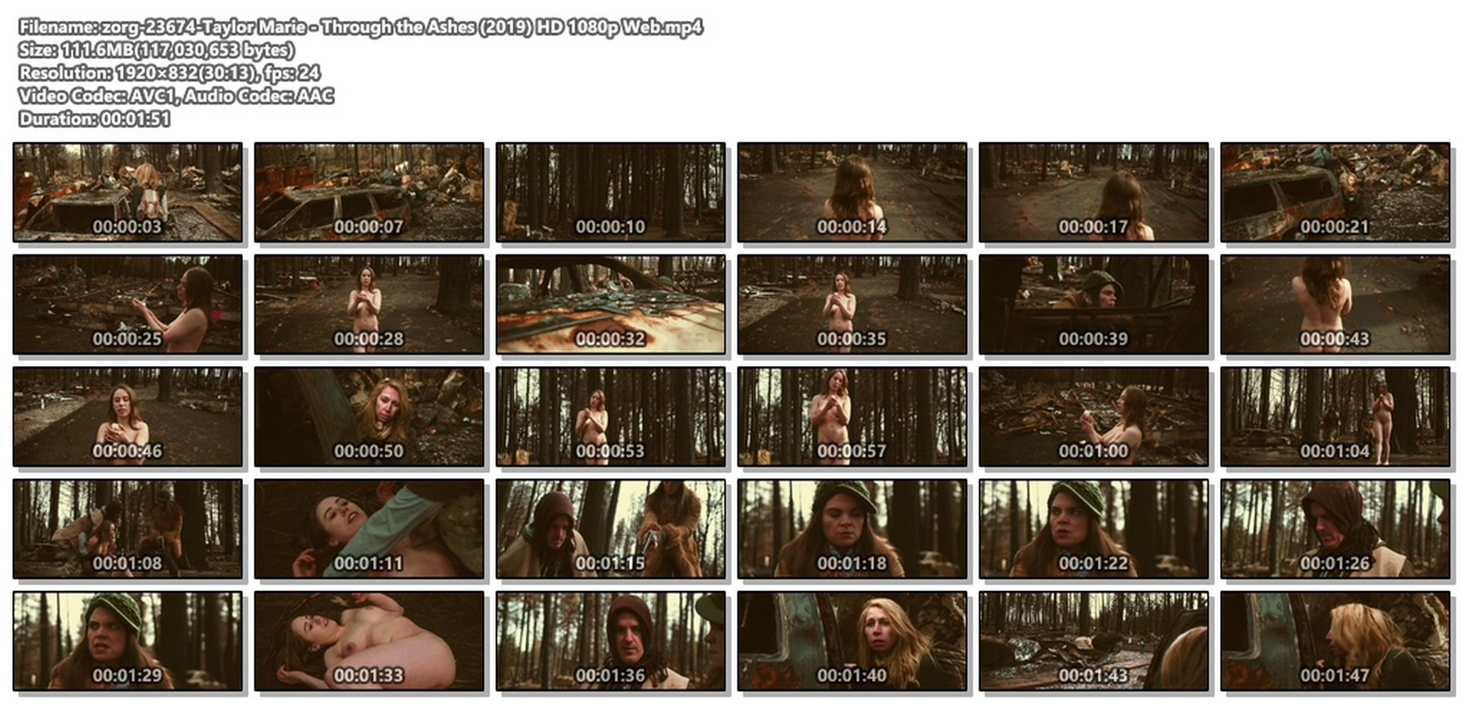 Taylor Marie nude full frontal - Through the Ashes (2019) HD 1080p Web (1)