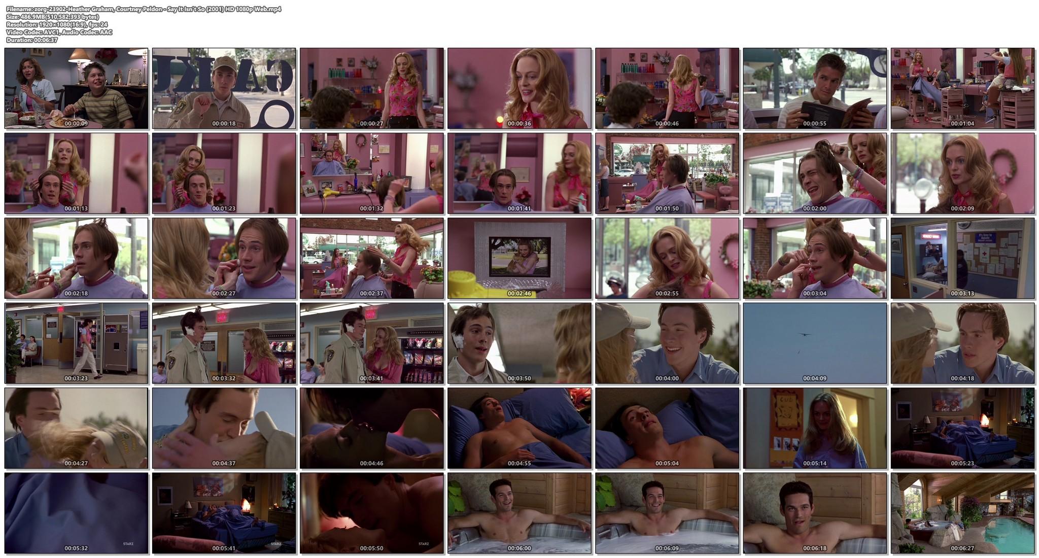 Heather Graham sexy Courtney Peldon funny - Say It Isn't So (2001) HD 1080p Web (1)