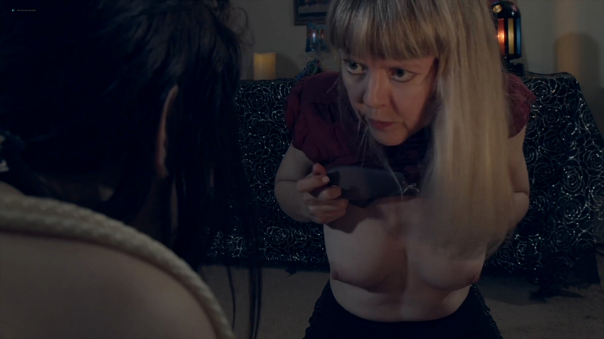 Sally Mullins nude topless Laura Dromerick nude too- Camp Blood 8: Revelations (2020) HD 1080p Web (5)
