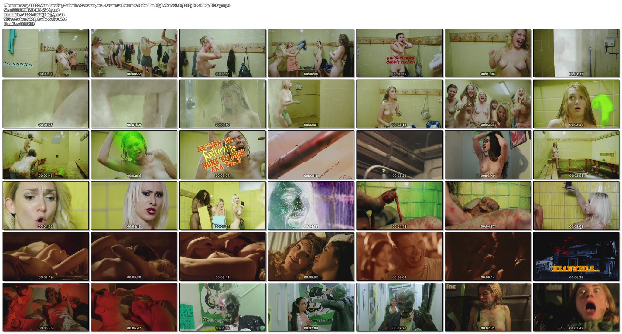 Asta Paredes nude sex Catherine Corcoran and others nude full frontal - Return to Return to Nuke 'Em High Aka Vol. 2 (2017) HD 1080p BluRay (1)