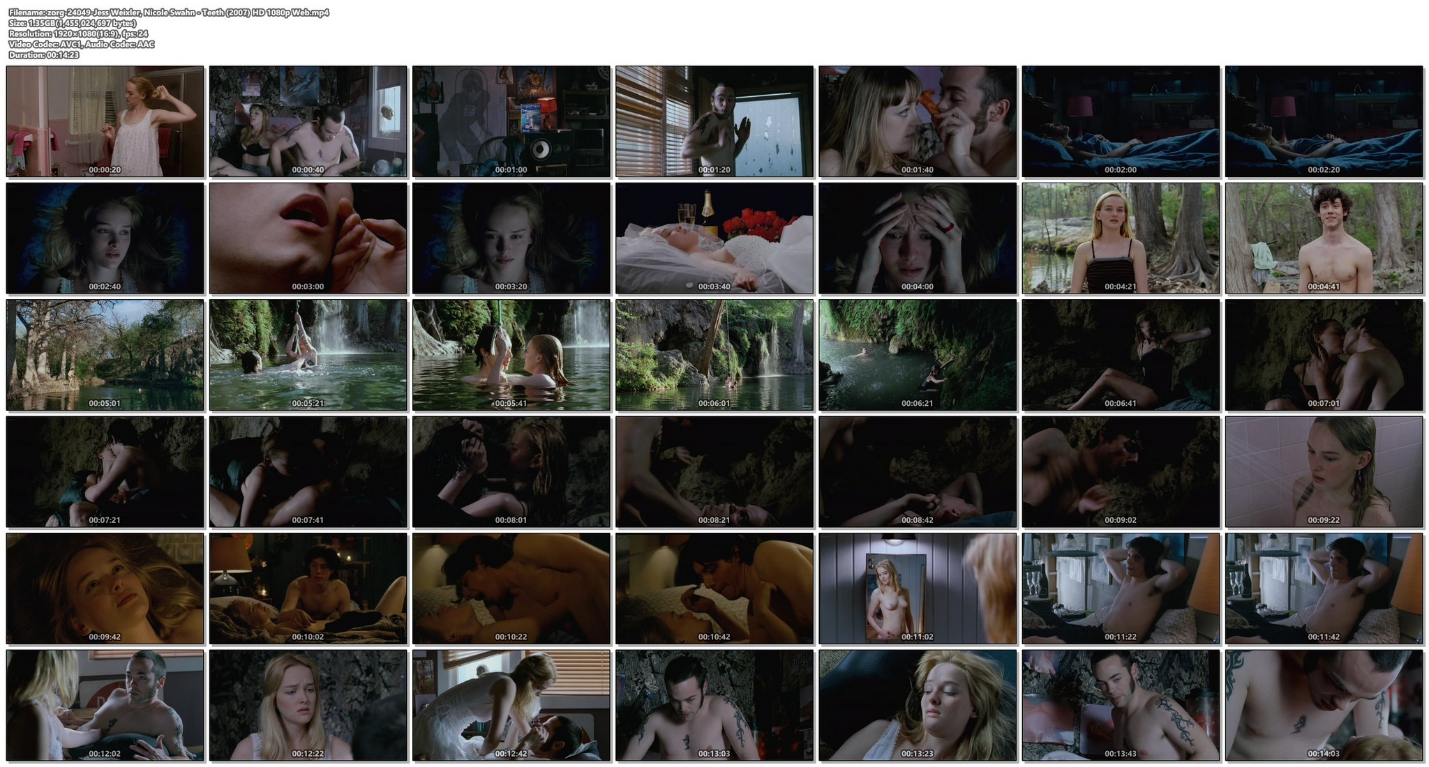 Jess Weixler nude sex Nicole Swahn sexy - Teeth (2007) HD 1080p Web (1)