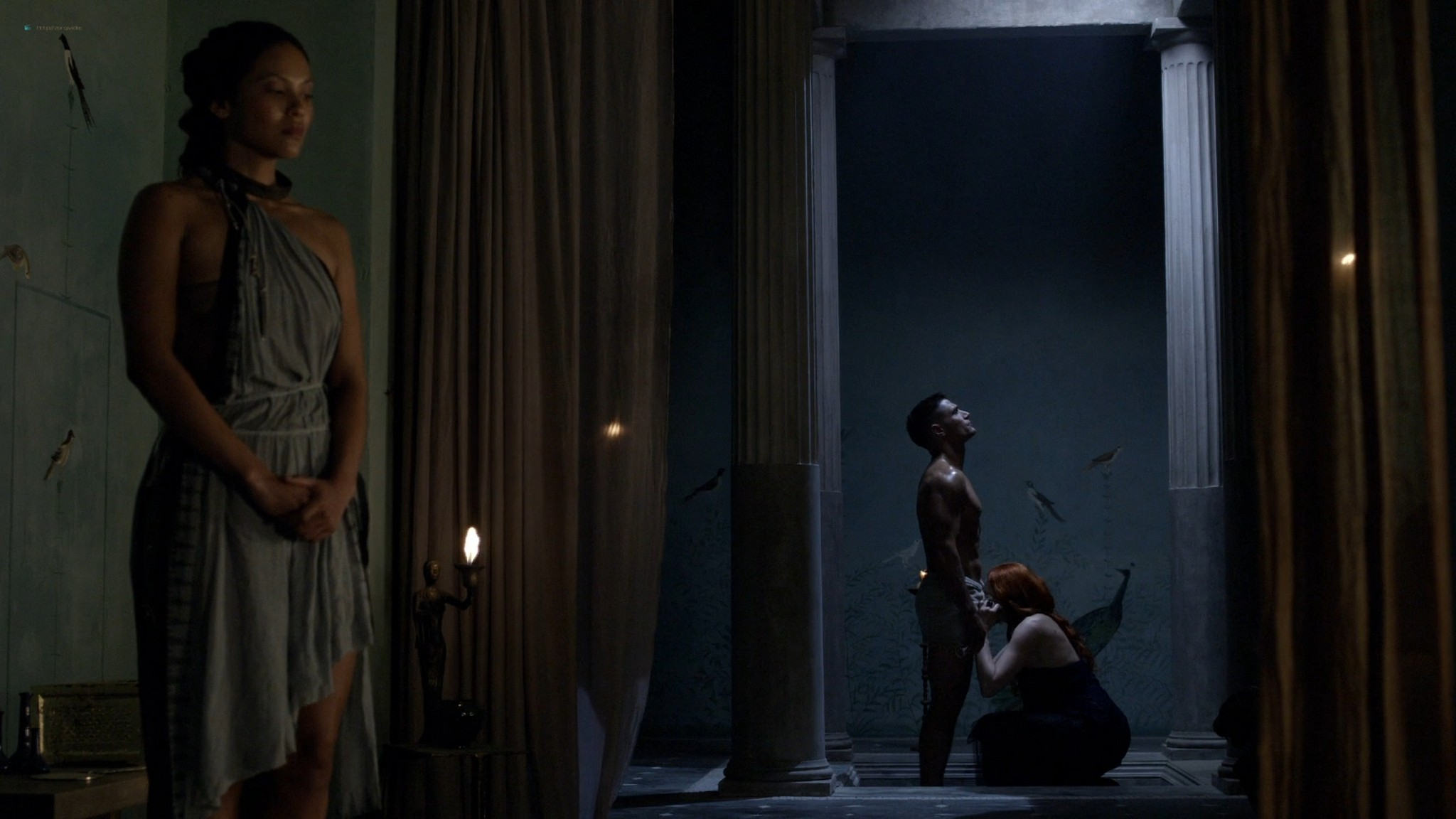 Lucy Lawless hot sex oral Lesley-Ann Brandt and others sexy - Spartacus - The Thing in the Pit (2010) s1e4-5 HD 1080p (5)