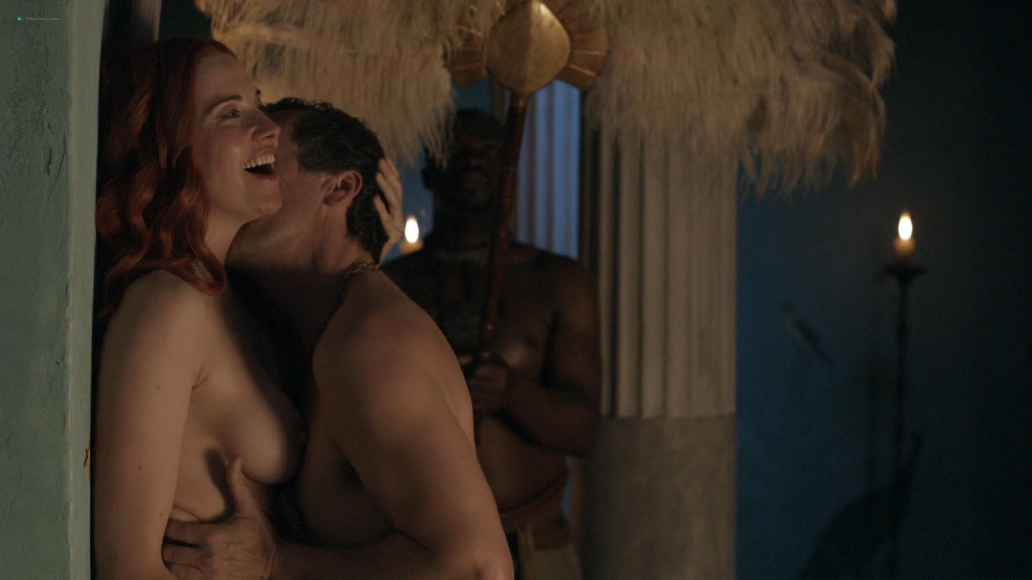 Lucy Lawless nude sex Erin Cummings, Aria Dickson nude too - Spartacus - Sacramentum Gladiatorum (2010) s1e2 HD 1080p (4)
