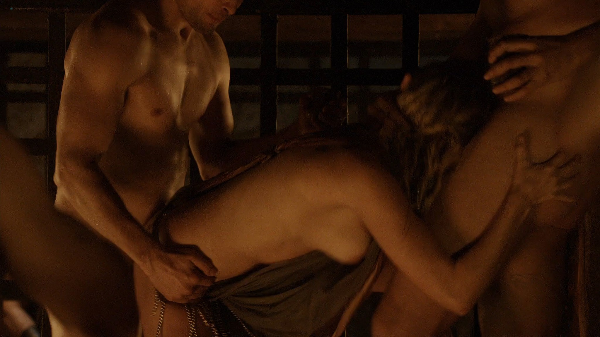 Lucy Lawless nude Lesley-Ann Brandt and other nude sex too - Spartacus (2010) Delicate Things s1e6 HD 1080p BluRay (7)