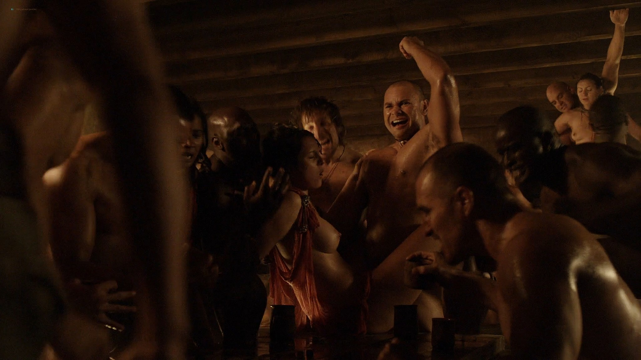 Lucy Lawless nude Lesley-Ann Brandt and other nude sex too - Spartacus (2010) Delicate Things s1e6 HD 1080p BluRay (4)